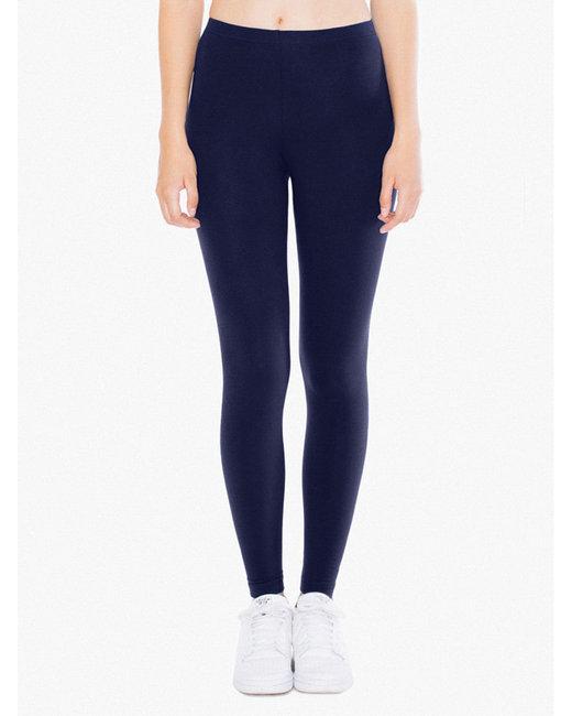American Apparel Ladies' Cotton Spandex Jersey Leggings - Navy