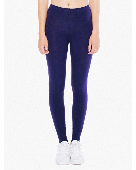American Apparel Ladies' Cotton Spandex Jersey Leggings - Imperial Purple