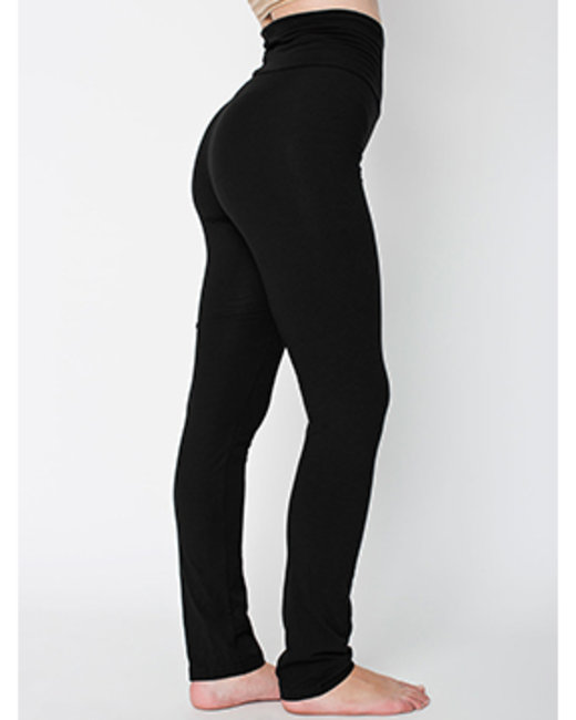 American Apparel Ladies' Cotton/Spandex Yoga Pant - Black
