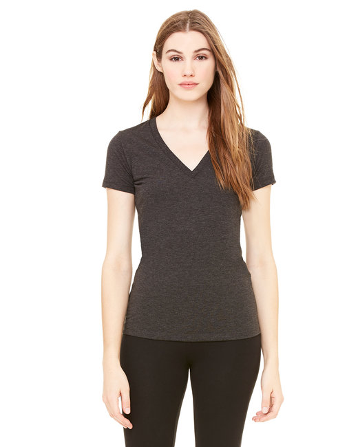 216051e45 8435. Bella + Canvas Ladies' Triblend Short-Sleeve Deep V-Neck T-Shirt