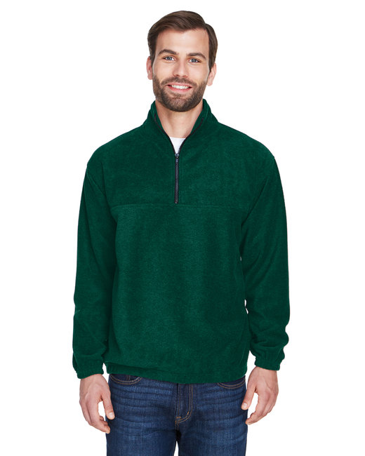 UltraClub Adult Iceberg Fleece Quarter-Zip Pullover - Forest Green
