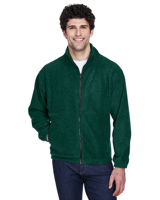 UltraClub Men's Iceberg Fleece Full-Zip Jacket - Forest Green