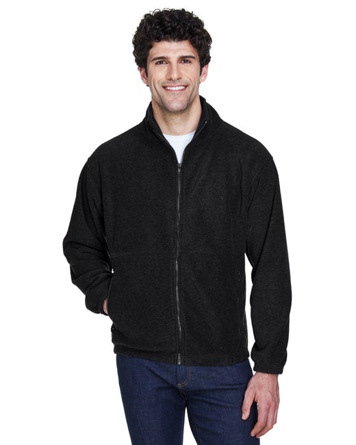 UltraClub Men's Iceberg Fleece Full-Zip Jacket - Black