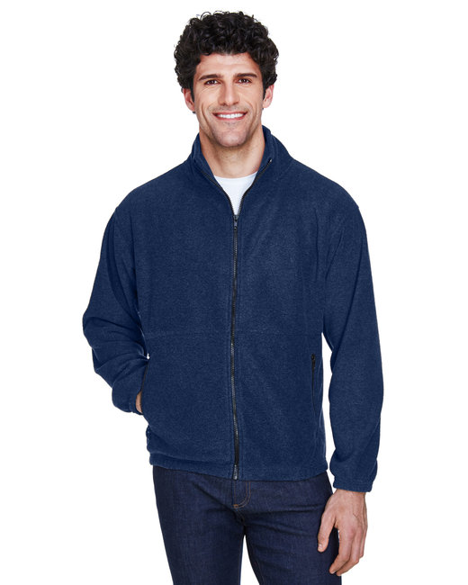 UltraClub Men's Iceberg Fleece Full-Zip Jacket - Navy