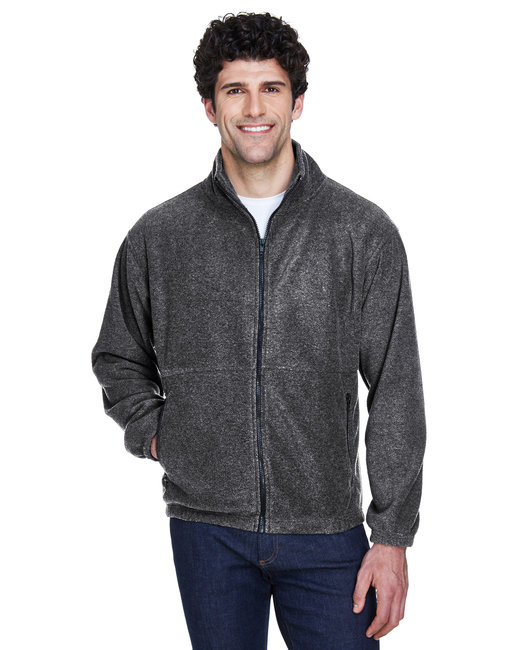 UltraClub Men's Iceberg Fleece Full-Zip Jacket - Charcoal