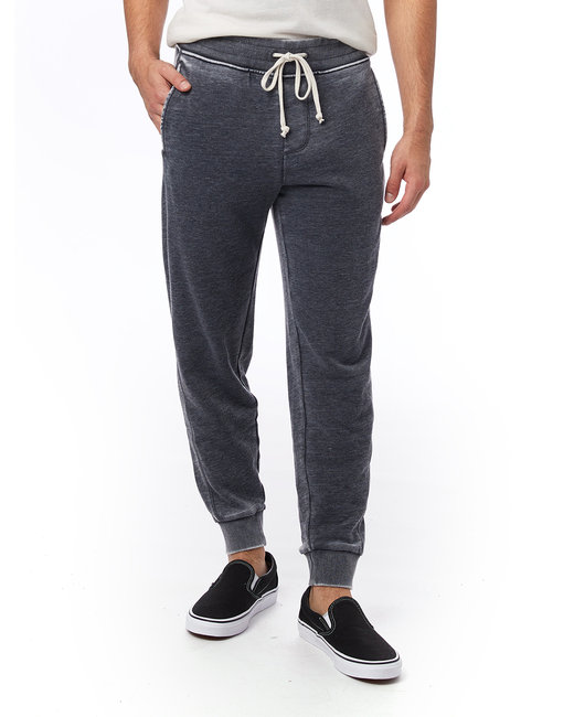 Alternative Men's Campus Burnout French Terry Jogger Pants - Washed Black