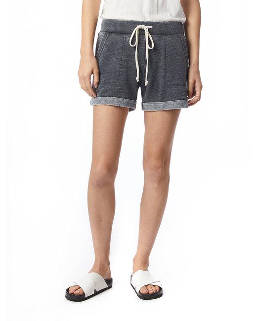 Alternative Ladies' Lounge Burnout French Terry Shorts - Washed Black
