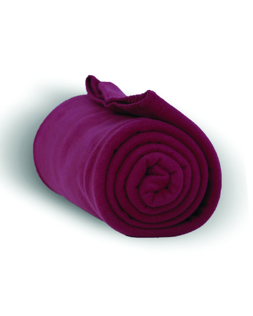 Alpine Fleece Alpine Fleece Throw Blanket - Burgundy