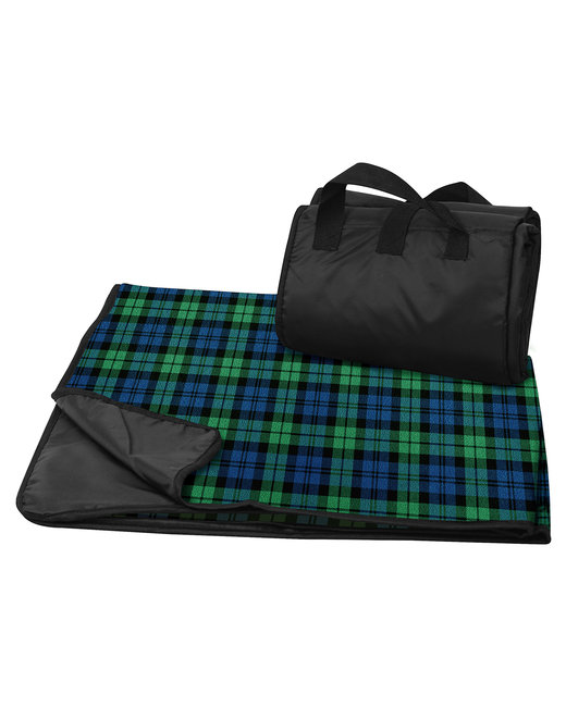 Liberty Bags Fleece/Nylon Plaid Picnic Blanket - Blackwatch