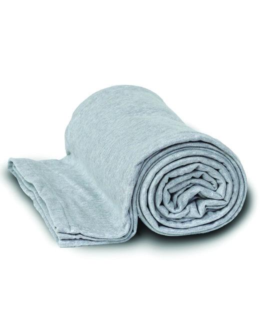 Alpine Fleece Sweatshirt Blanket Throw - Gray