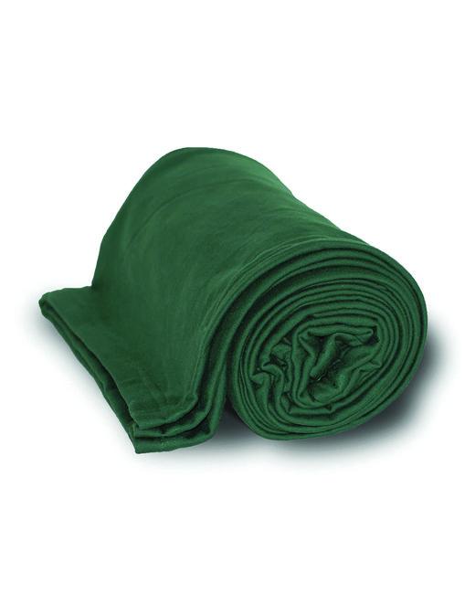 Alpine Fleece Sweatshirt Blanket Throw - Forest Green