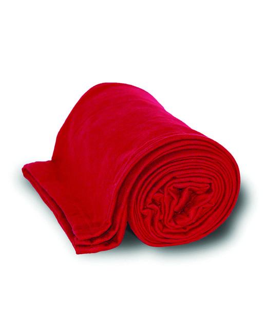 Alpine Fleece Sweatshirt Blanket Throw - Red