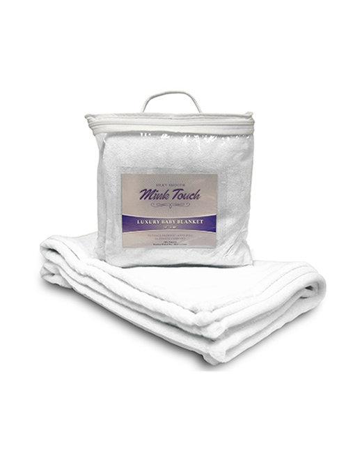 Alpine Fleece Mink Touch Luxury Baby Blanket - White