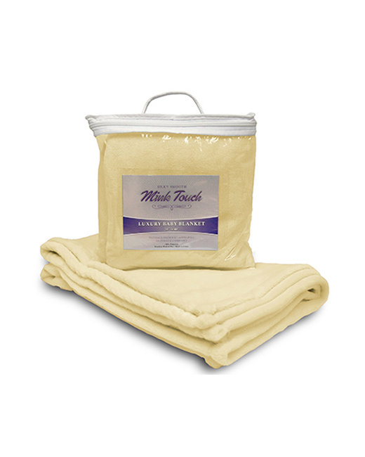 Alpine Fleece Mink Touch Luxury Baby Blanket - Soft Yellow