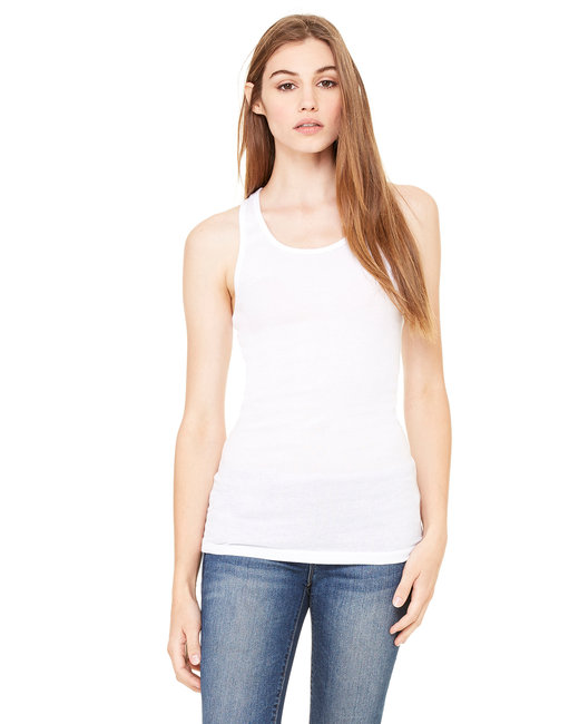 8770 Bella + Canvas Ladies' Sheer Mini Rib Racerback Tank