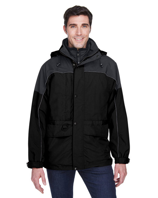 North End Adult 3-in-1 Two-Tone Parka - Black