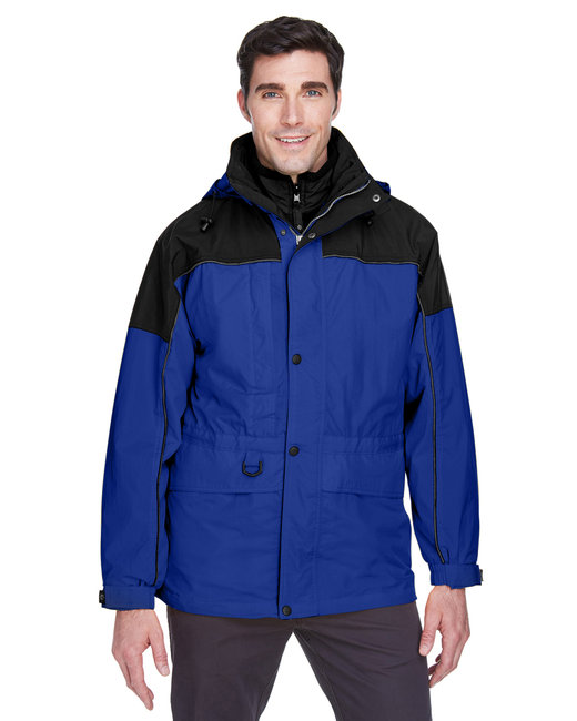North End Adult 3-in-1 Two-Tone Parka - Royal Cobalt