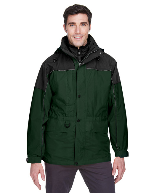 North End Adult 3-in-1 Two-Tone Parka - Alpine Green