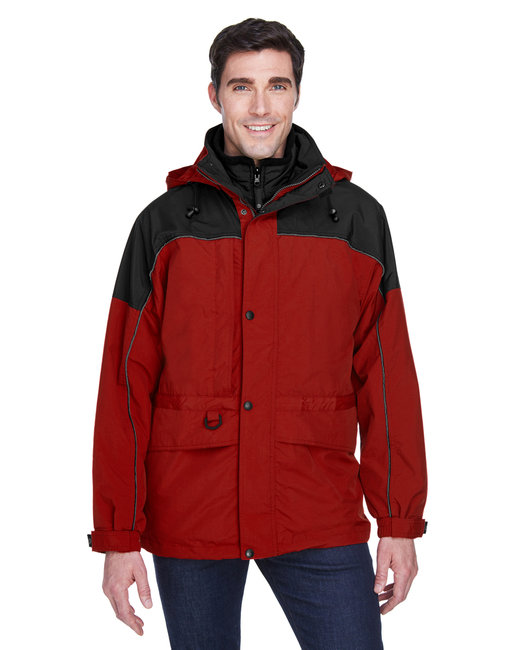 North End Adult 3-in-1 Two-Tone Parka - Molten Red