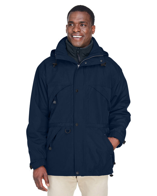 North End Adult 3-in-1 Parka with Dobby Trim - Midnight Navy
