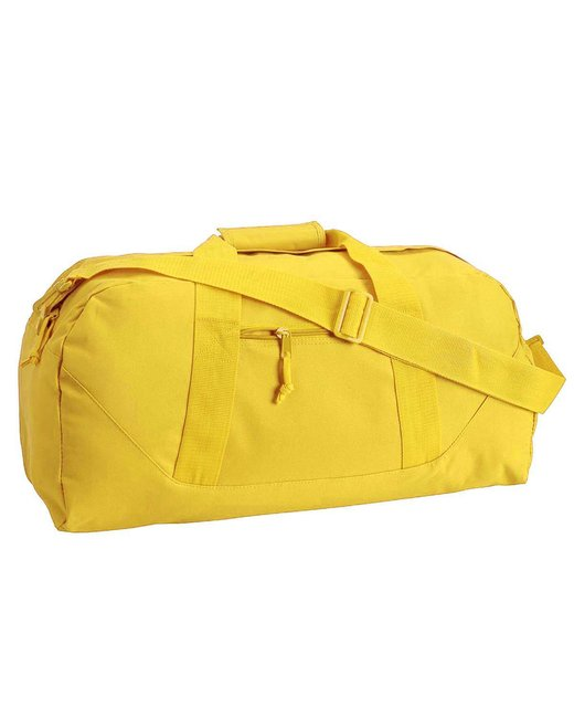 Liberty Bags Game Day Large Square Duffel - Bright Yellow