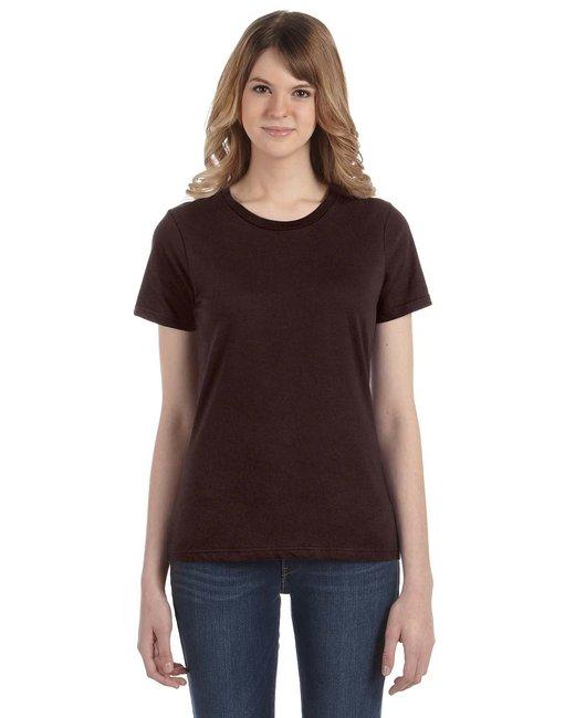 Anvil Ladies' Lightweight T-Shirt - Chocolate