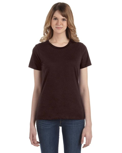 Anvil Ladies' Lightweight T-Shirt - Chocolate