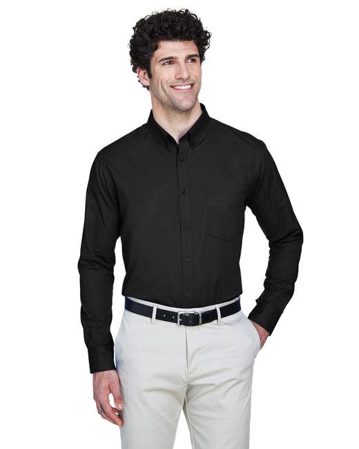 Core 365 Men's Tall Operate Long-Sleeve Twill Shirt - Black