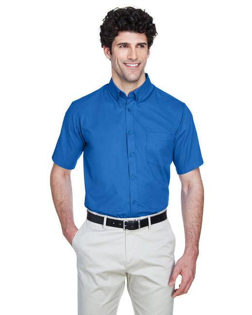 Core 365 Men's Optimum Short-Sleeve Twill Shirt - True Royal