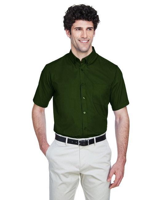 Core 365 Men's Optimum Short-Sleeve Twill Shirt - Forest