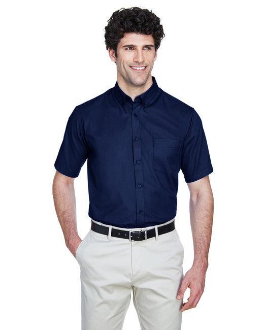 Core 365 Men's Optimum Short-Sleeve Twill Shirt - Classic Navy