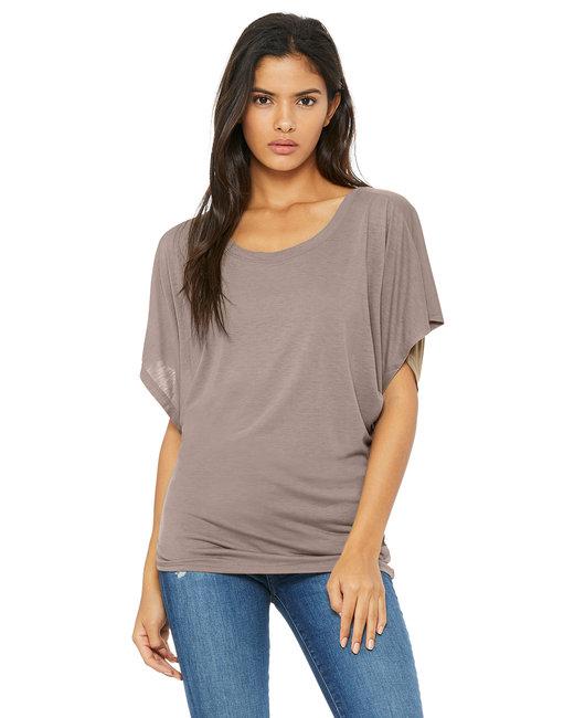 Bella + Canvas Ladies' Flowy Draped Sleeve Dolman T-Shirt - Pebble