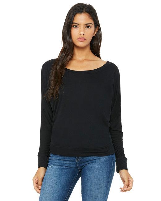 Ladies' Flowy Long-Sleeve Off Shoulder T-Shirt