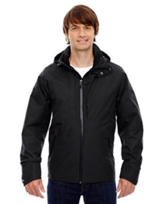 North End Sport Blue Men's Skyline City Twill Insulated Jacket with Heat Reflect Technology - Black