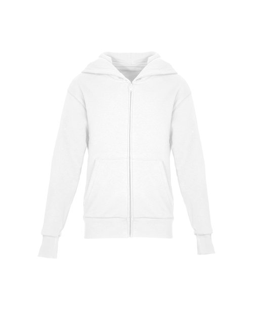 Next Level Youth Zip Hoody - White