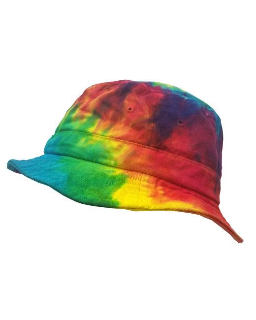 Tie-Dye Bucket Hat - Reactive Rainbow