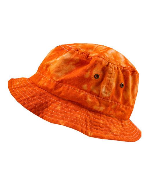 Tie-Dye Bucket Hat - Spider Orange