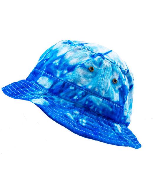 Tie-Dye Bucket Hat - Spider Baby Blue