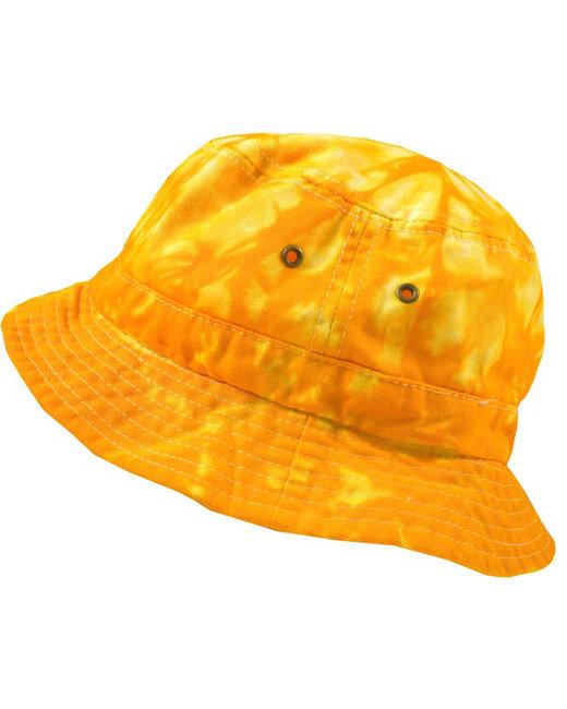 Tie-Dye Bucket Hat - Spider Gold