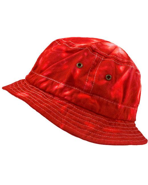 Tie-Dye Bucket Hat - Spider Red