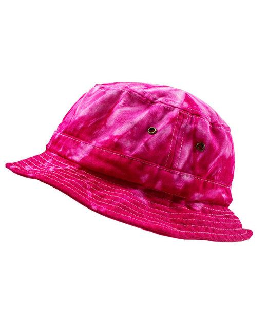 Tie-Dye Bucket Hat - Spider Pink