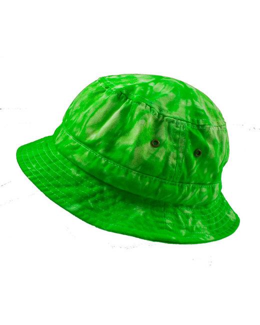 Tie-Dye Bucket Hat - Spider Lime