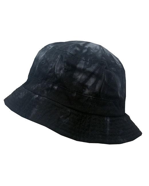Tie-Dye Bucket Hat - Spider Black