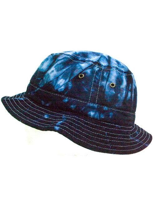 Tie-Dye Youth Bucket Hat - Blue Ocean