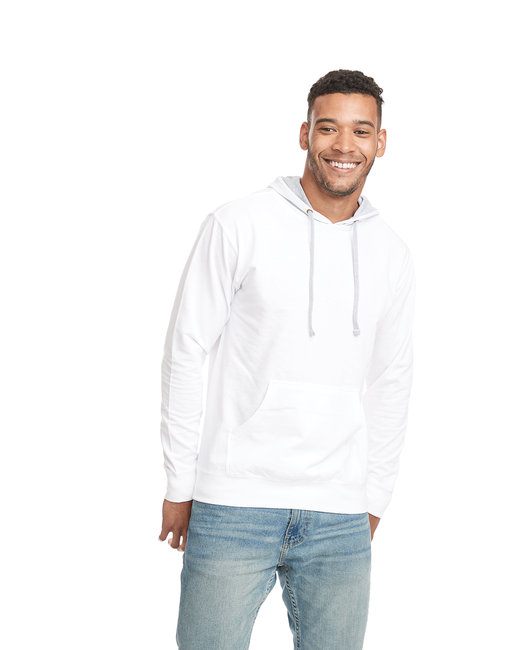 Next Level Unisex French Terry Pullover Hoody - Wht/ Hthr Gray