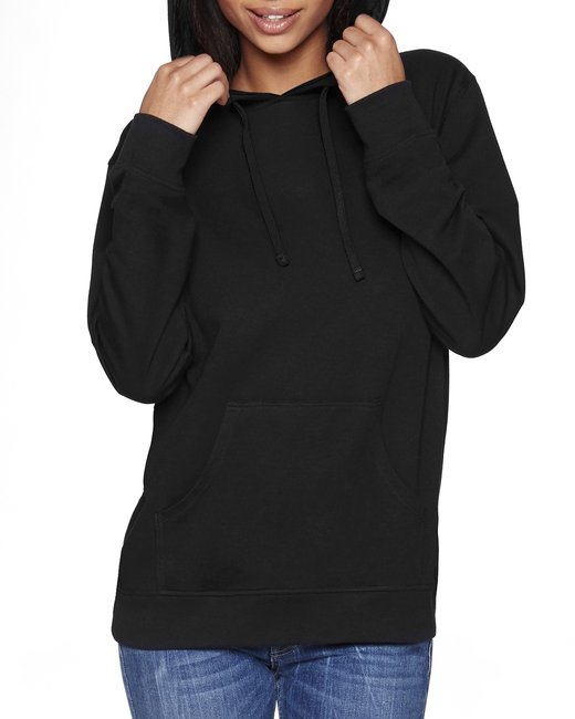 Next Level Unisex French Terry Pullover Hoody - Black/ Black