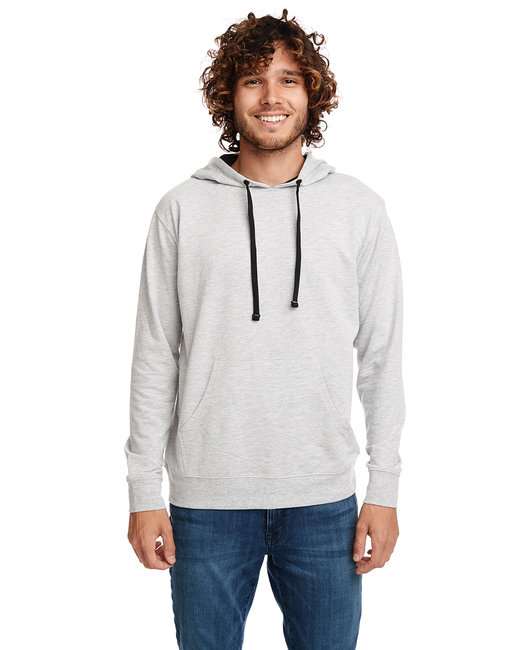Next Level Unisex French Terry Pullover Hoody - Hthr Grey/ Black