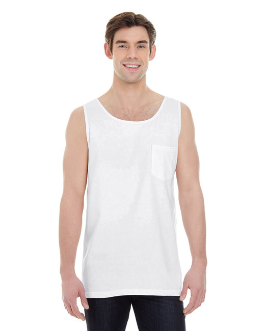 Comfort Colors Adult Heavyweight RS Pocket Tank - White