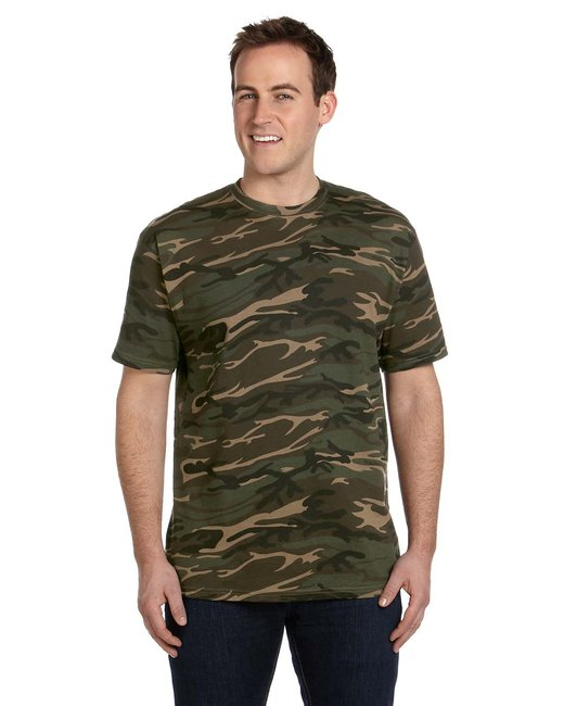 Anvil Midweight Camouflage T-Shirt - Camouflage Green
