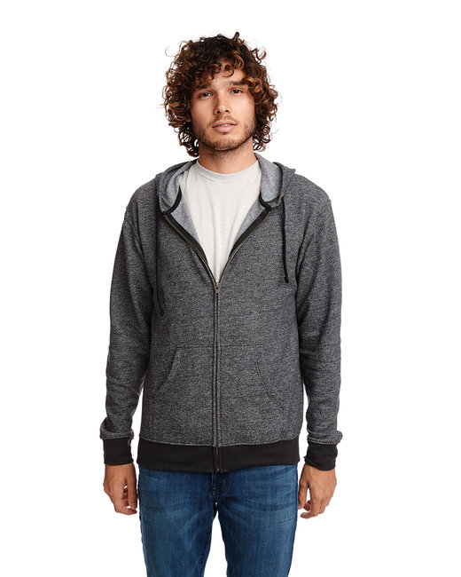 Next Level Adult Denim Fleece Full-Zip Hoody - Black